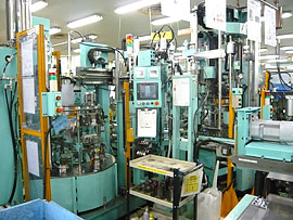 ターンテーブル式自動化生産ライン (電気設計・制御盤製作・電装工事)
